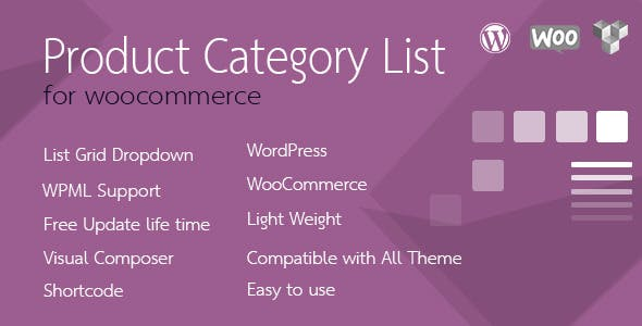 Product Category List for WooCommerce