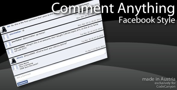 Comment Anything — Facebook Style