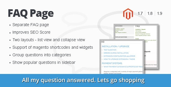 FAQ Page Magento Extension - CodeCanyon Item for Sale