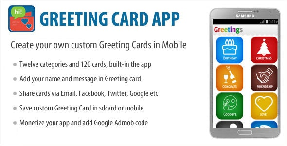 Greeting Card App - CodeCanyon Item for Sale