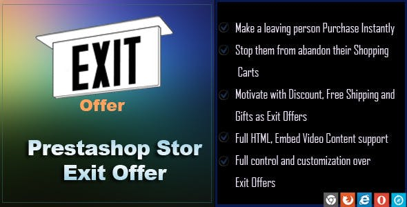 Exit Offer for Prestashop