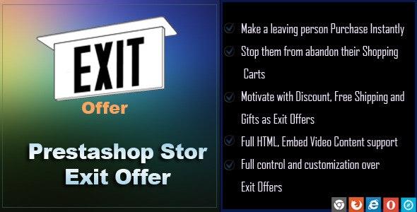 Exit Offer for Prestashop - CodeCanyon Item for Sale