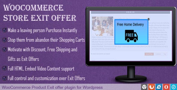 Exit Offer for Woocommerce