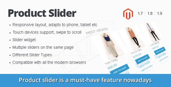 Responsive Magento Product Slider