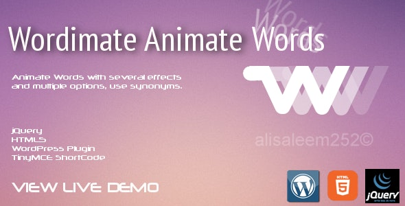 Wordimate Animate Words Pro - CodeCanyon Item for Sale