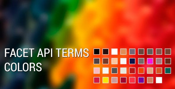 Facetapi terms color