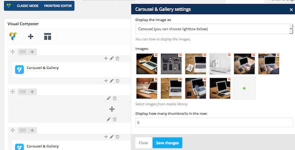 WPBakery Page Builder (formerly Visual Composer) Add-on - Carousel & Gallery