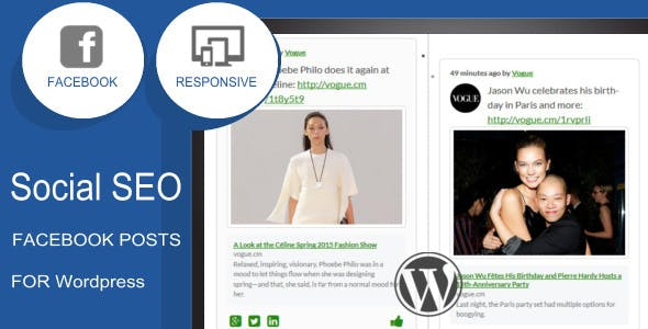 Social SEO Facebook Responsive Timeline Feed