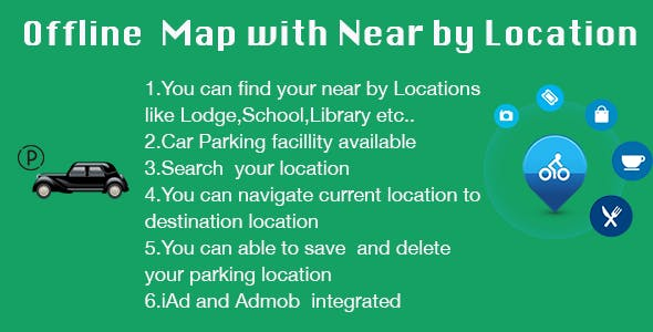 Offline Map and Near By Location with iAd and Admob