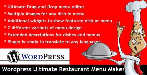 Wordpress Ultimate Restaurant Menu Maker by evgendob