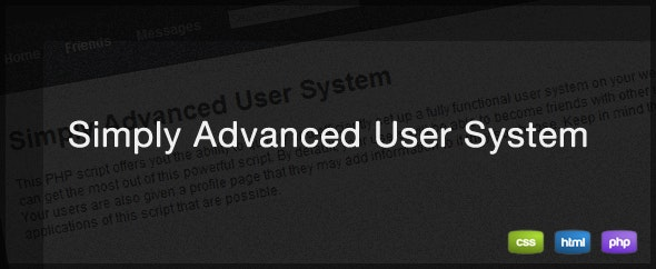 Simply Advanced User System - CodeCanyon Item for Sale