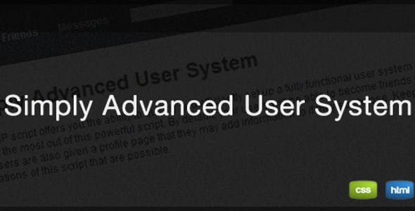Simply Advanced User System