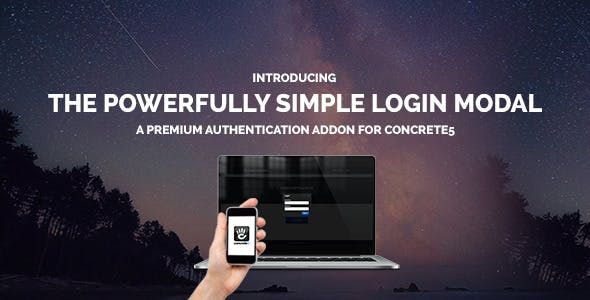 Simple Login Modal For Concrete 5