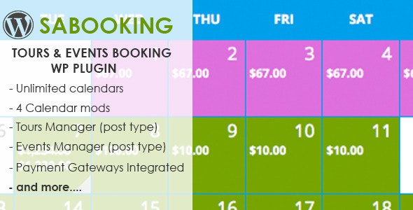 saBooking -Tours  & Events Booking WP Plugin - CodeCanyon Item for Sale