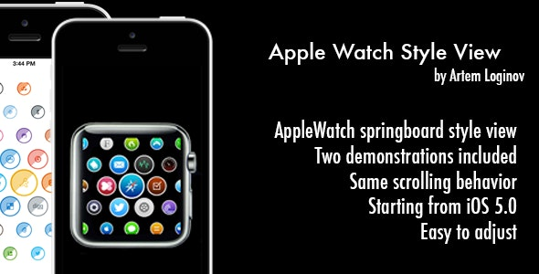 Apple Watch Style View - CodeCanyon Item for Sale