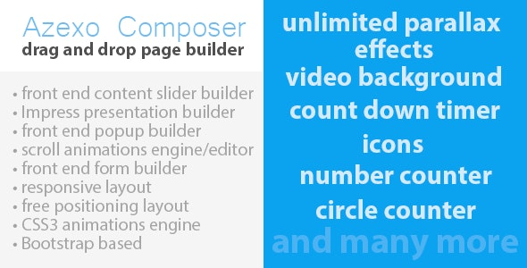 Azexo Composer Drupal page / block builder by marketing-automation