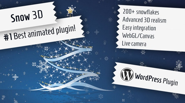 Snow 3D - Christmas Plugin for WordPress - CodeCanyon Item for Sale