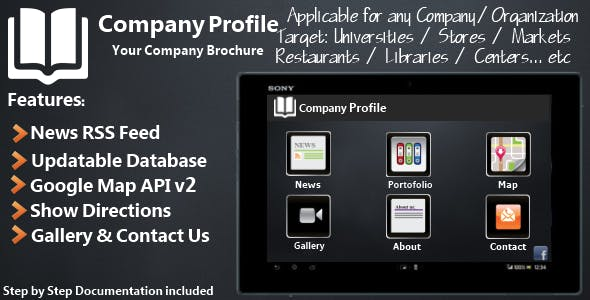 Company Profile - Android Template