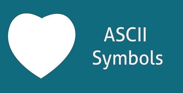 ASCII Text Symbols - Top Android App