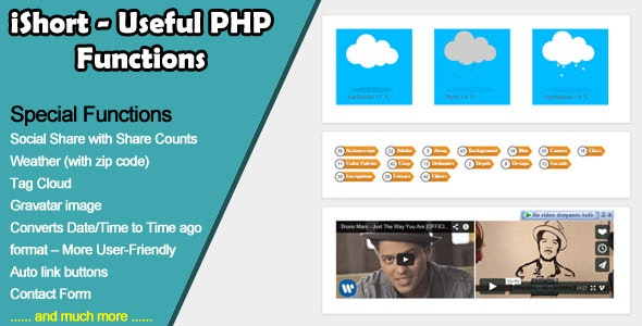 iShort - 29 Useful PHP Functions - CodeCanyon Item for Sale