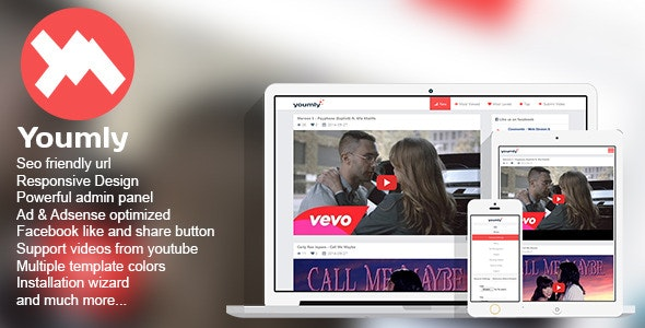 Youmly - Youtube Video Website by SailorThemes | CodeCanyon