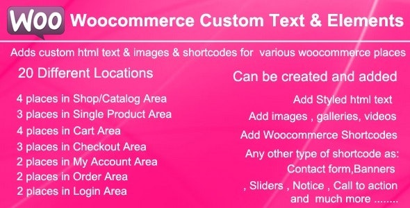 Woocommerce Custom Text and Elements - CodeCanyon Item for Sale