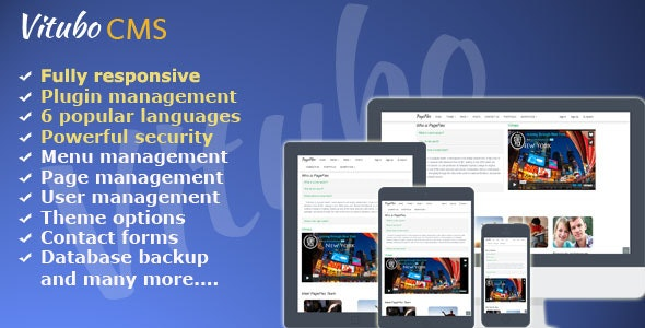 Vitubo CMS Version 2.3 - CodeCanyon Item for Sale