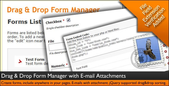 Drag & Drop Form Manager with E-mail Attachments - CodeCanyon Item for Sale