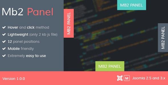 Mb2 Panel - Joomla Module - CodeCanyon Item for Sale