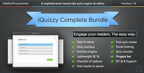 jQuizzy Classic - Complete Bundle - CodeCanyon Item for Sale