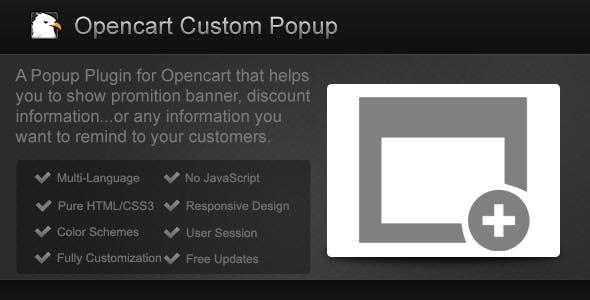Opencart Custom Popup