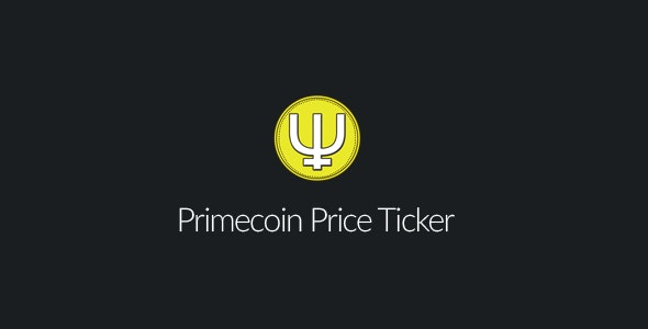 Primecoin Price Ticker - CodeCanyon Item for Sale