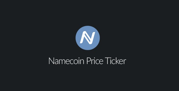 Namecoin Price Ticker - CodeCanyon Item for Sale