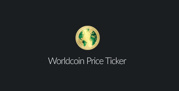 Worldcoin Price Ticker - CodeCanyon Item for Sale