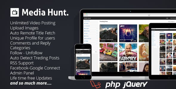Media Hunt : Media Sharing Community Script
