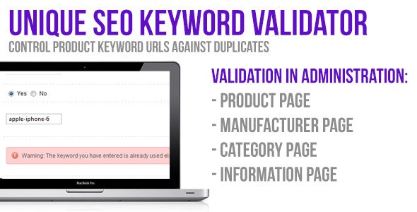 Unique SEO Keyword Validator - CodeCanyon Item for Sale