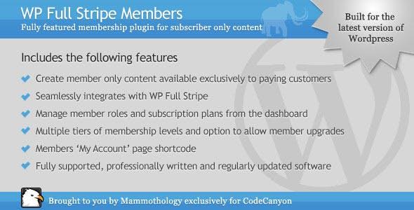 WP Full Stripe Members - Add-on for WP Full Stripe
