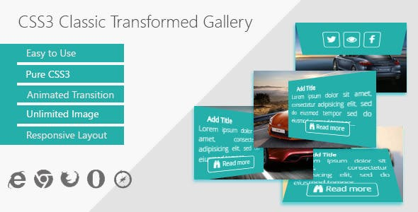 CSS3 Classic Transformed Gallery