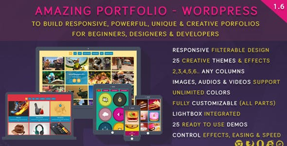Amazing Portfolio - WordPress