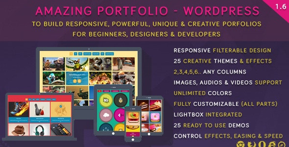 Amazing Portfolio - WordPress - CodeCanyon Item for Sale