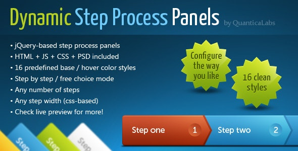 Dynamic Step Process Panels - CodeCanyon Item for Sale