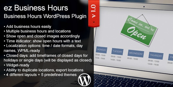 ez Business Hours - CodeCanyon Item for Sale