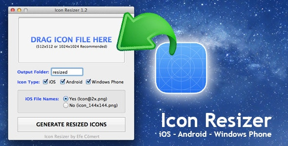 Mobile Icon Resizer (Mac) - CodeCanyon Item for Sale
