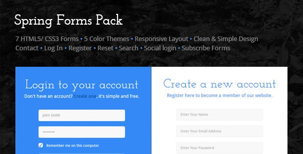 Spring Forms Pack - CodeCanyon Item for Sale
