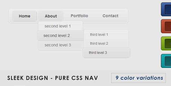 Sleek Design - Pure CSS nav
