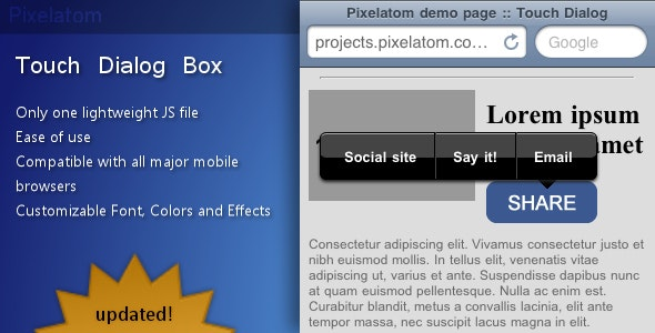 Touch Dialog Box - CodeCanyon Item for Sale