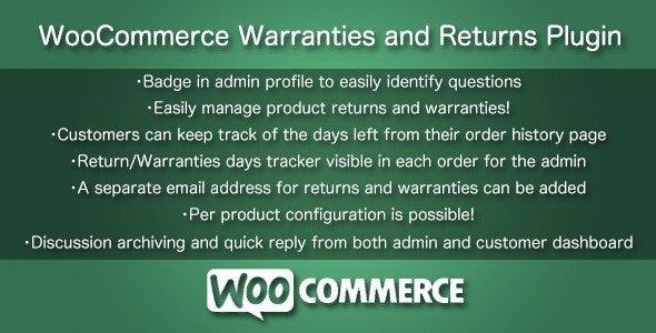 WooCommerce Warranties and Returns - CodeCanyon Item for Sale