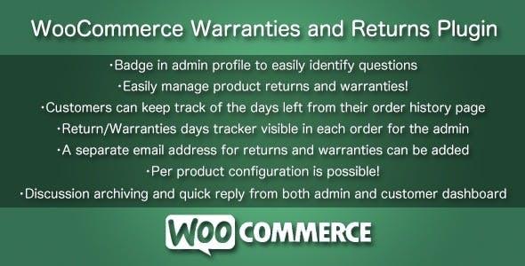 WooCommerce Warranties and Returns