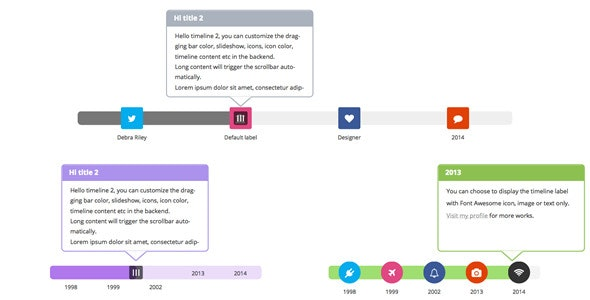 WPBakery Page Builder (formerly Visual Composer) Add-on - Draggable Timeline - CodeCanyon Item for Sale