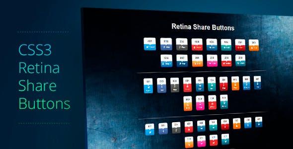 Retina Share Buttons